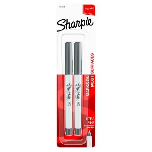 Sharpie® Permanent Marker, Ultra Fine Tip, 2ct - Black - image 1 of 6