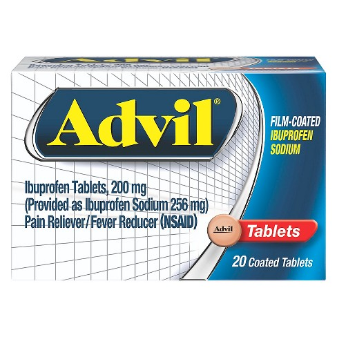 Advil Pain Reliever/Fever Reducer Film Coated Tablets - Ibuprofen (NSAID) - image 1 of 4