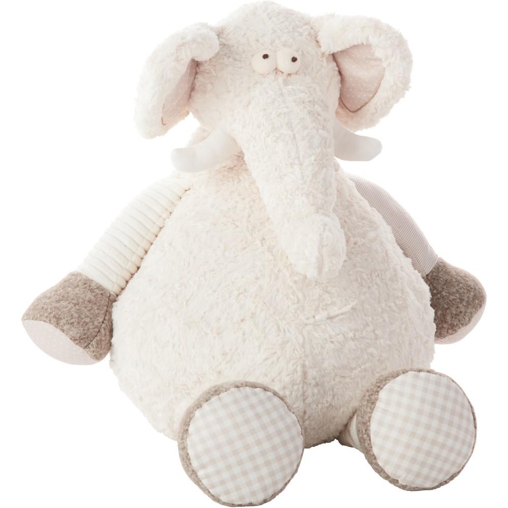 Image of Oversized Elephant Plush Throw Pillow Ivory - Mina Victory