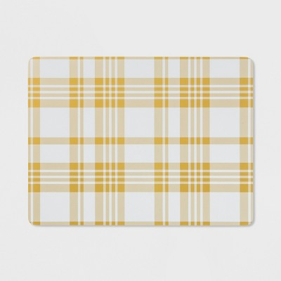 Plaid Cork Placemat Yellow - Threshold™