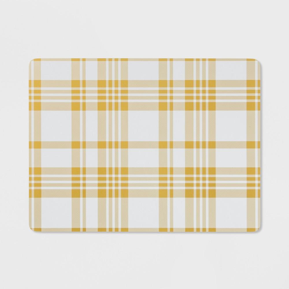 Image of Plaid Cork Placemat Yellow - Threshold