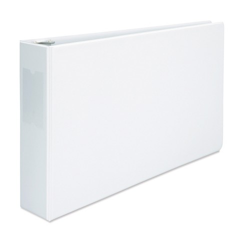 """Universal Legal-Size Round Ring Binder with Label Holder, 3"""" Capacity, 11 x 17, White - image 1 of 3"""