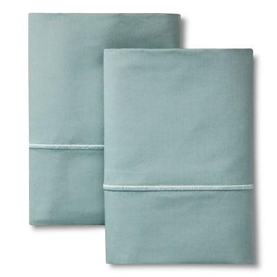 Supima Cotton Pillowcase Set (King)Aqua Spill 1000 Thread Count - Fieldcrest™
