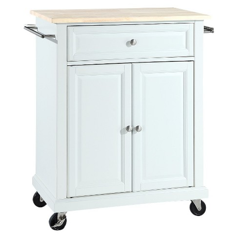 Portable Kitchen Cart Wood Top - Crosley