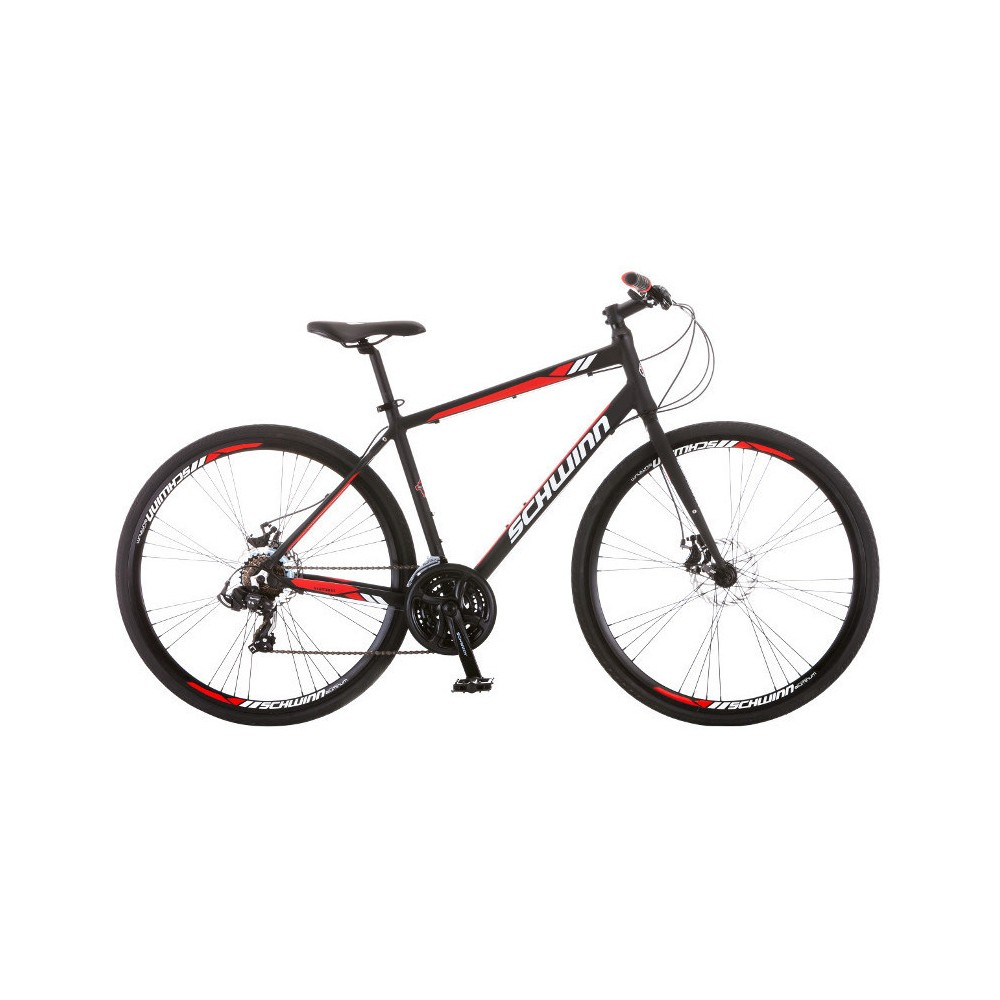 Schwinn Men's Circuit 28 Hybrid Bike with Disc Brake - Black