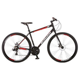 "Schwinn Men's Circuit 28"" Hybrid Bike with Disc Brake - Black"