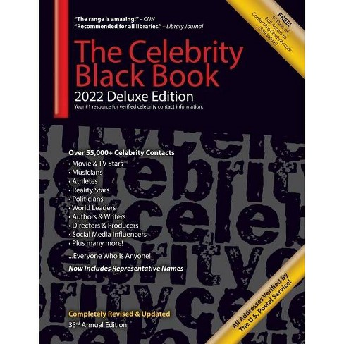 The Celebrity Black Book 2022 (Deluxe Edition) for Fans, Businesses & Nonprofits - 33rd Edition by  Jordan McAuley (Paperback) - image 1 of 1
