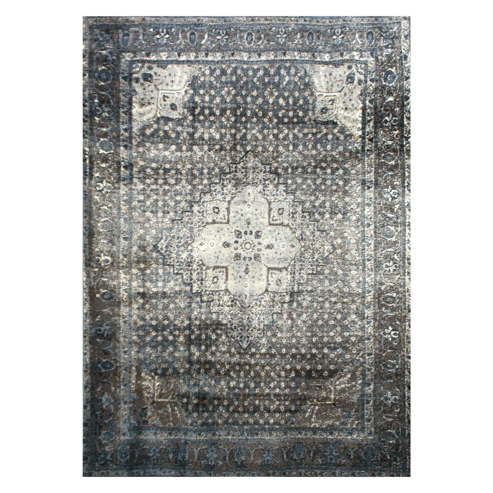 Blue Solid Loomed Square Area Rug 8 X8 Nuloom