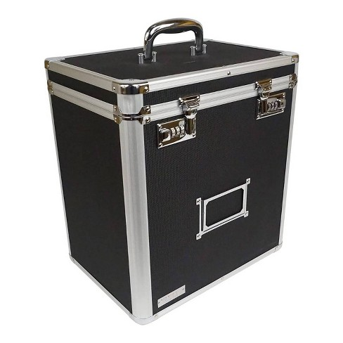 Vaultz Vinyl Record Case with Combination Lock - Black - image 1 of 4