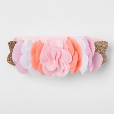 Baby Headwrap Floral - Cloud Island™ Pink/Brown