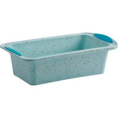 "Trudeau Loaf Pan Confetti Blue 8.5"" x 4.5"""