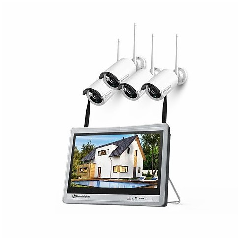 HeimVision HM243 1080P Wireless Security Camera System with 12 inch LCD Monitor - image 1 of 4