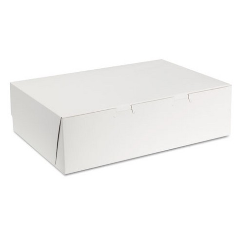 SCT Tuck-Top Bakery Boxes 14w x 10d x 4h White 100/Carton 1025 - image 1 of 1