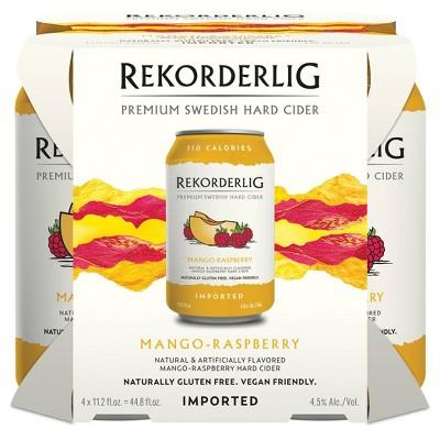Rekorderlig Mango-Raspberry Hard Cider - 4pk/11.2 fl oz Cans