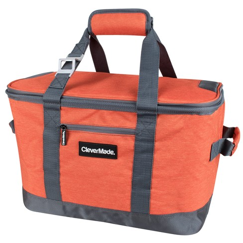 CleverMade SnapBasket 50 Can Soft-Sided Collapsible Cooler - Heather Orange/Charcoal - image 1 of 4
