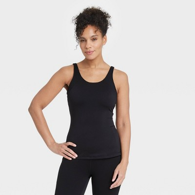 Women's Scoop Back Tank Top with Shelf Bra - All in Motion™
