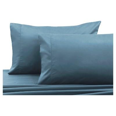 Cotton Sateen Pillowcase Pair (King)Sky Blue 750 Thread Count - Tribeca Living®