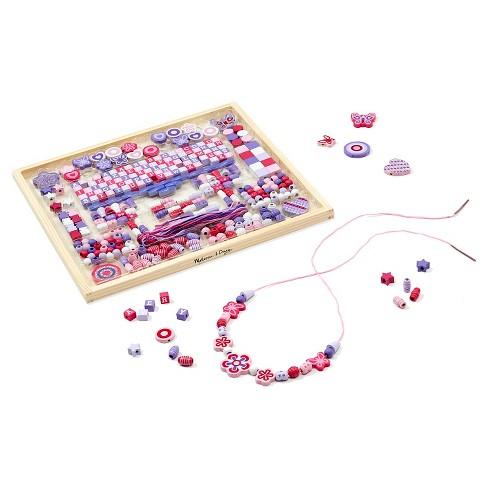 Melissa & Doug® Deluxe Collection Wooden Bead Set With 340+ Beads for Jewelry-Making - image 1 of 5