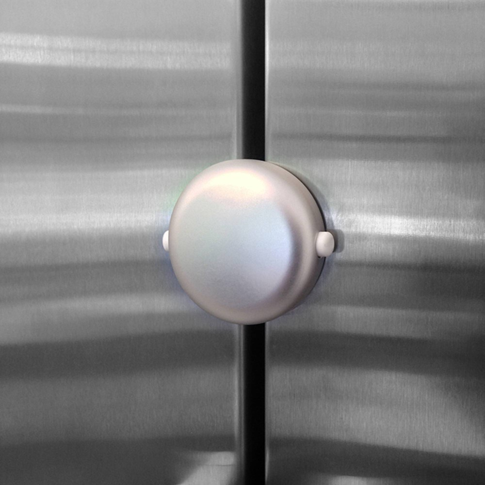 Image of Qdos Adhesive Fridge/Freezer Lock - Chrome, Silver