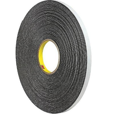 "3M Double-Sided Tape 1"" x 5 Yds. Black (4466B) 074446615M112"
