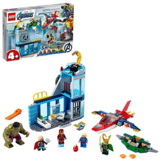LEGO Marvel Avengers Wrath of Loki Building Toy with Minifigures and Tesseract 76152