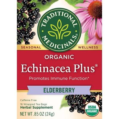 Traditional Medicinals Echicancea Plus Elderberry Tea Bags - 16ct