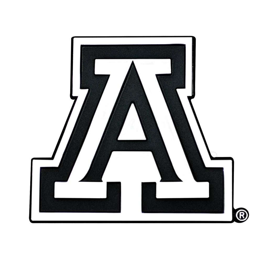 Ncaa University Of Arizona Wildcats 3d Chrome Metal Emblem