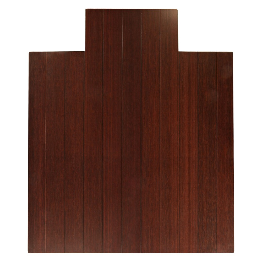 """Image of """"3'7""""""""X4'3"""""""" Bamboo Deluxe Roll-Up Chairmat With Lip Brown - Anji Mountain"""""""