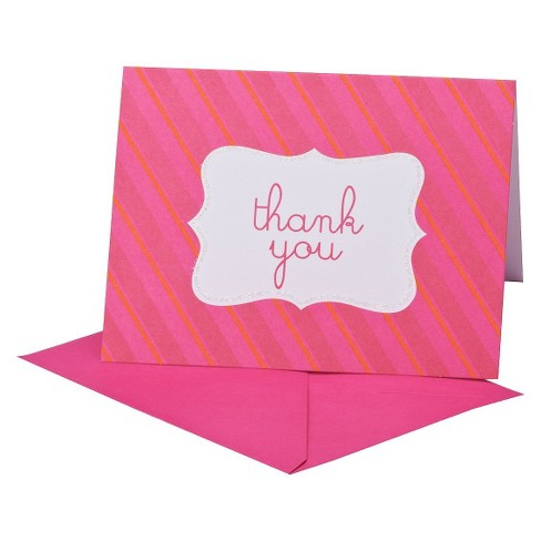 THANK YOU 8ct PINK W/BORDER - Spritz™ - image 1 of 1