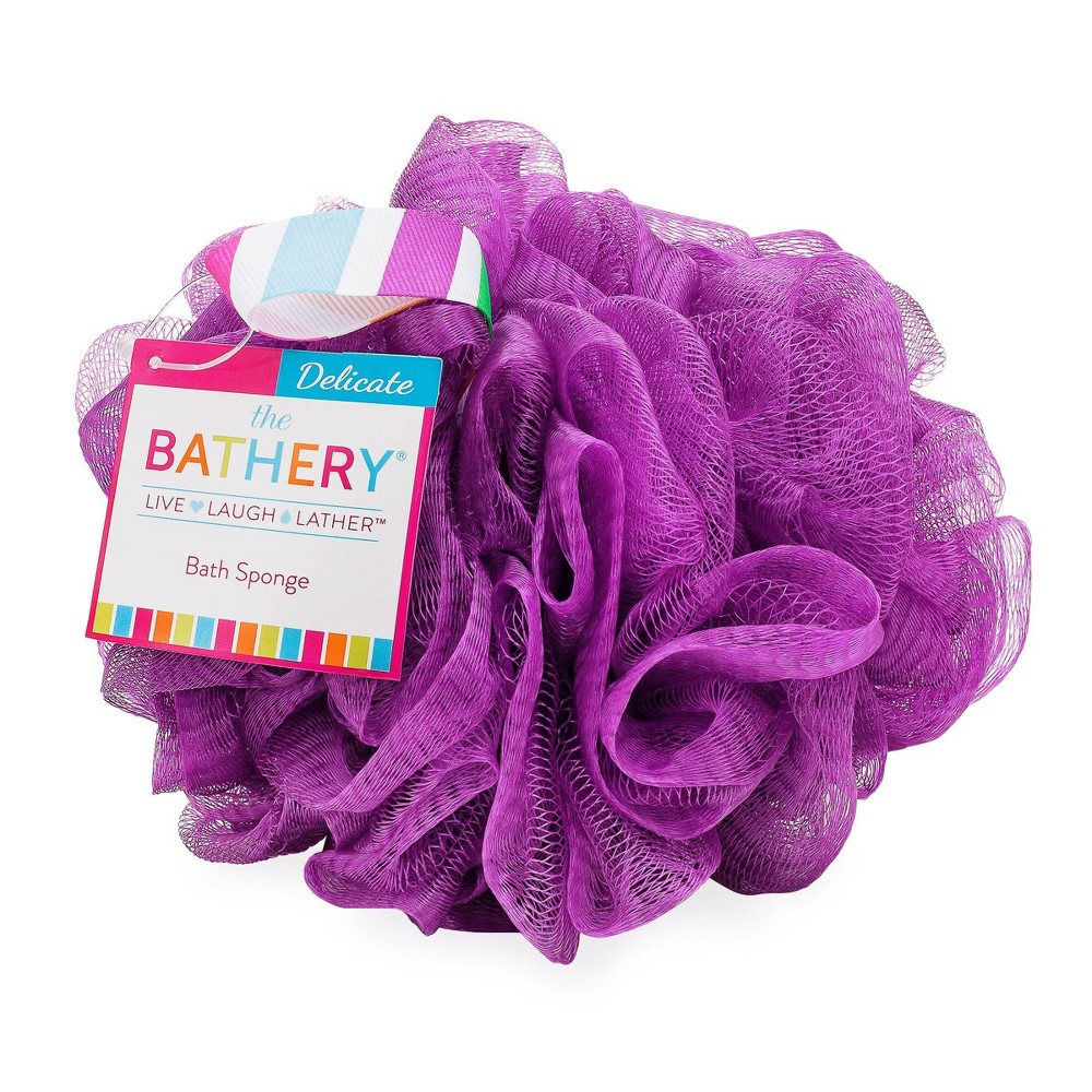 Image of The Bathery Delicate Bath Sponge - Purple