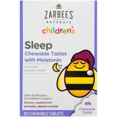 Zarbee's Children's Sleep Tablets with Melatonin - Grape Flavor - 50ct