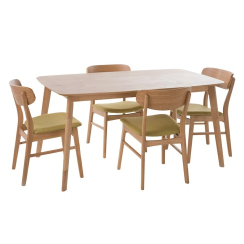 "Lucious 60"" 5 - Piece Dining Set - Natural Oak/Green Tea - Christopher Knight Home - image 1 of 4"