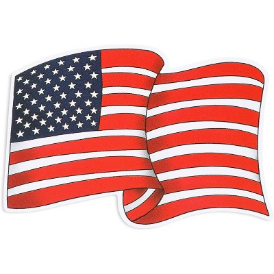 "24-Count American Flag Vinyl Sticker, Patriotic USA Waterproof Car Decal (2"" x 3"")"