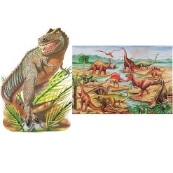 Melissa & Doug Dinosaur and T-Rex 2pk Floor Puzzle