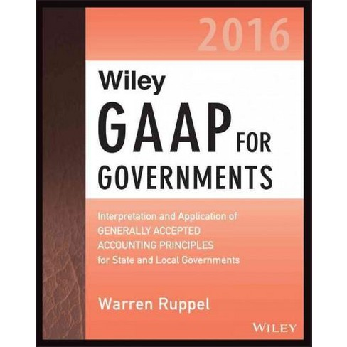Wiley Gaap For Governments 2016 Interpretation An Target