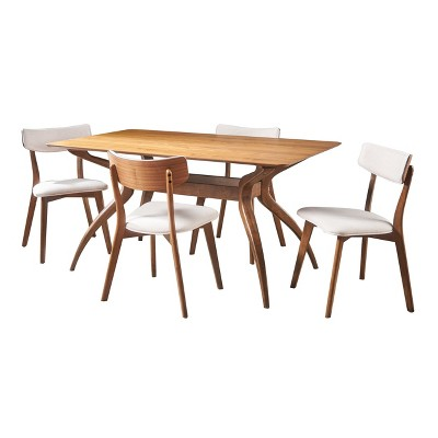 5pc Nissie Mid-Century Dining Set - Christopher Knight Home : Target