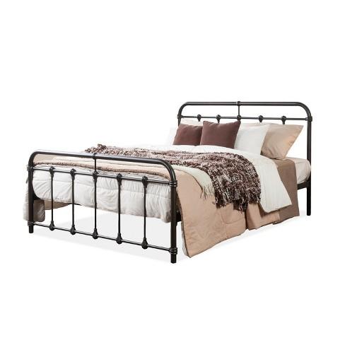 cc4435b908f63 Full Mandy Vintage Industrial Full Size Platform Bed Black Metal Finish - Baxton  Studio   Target
