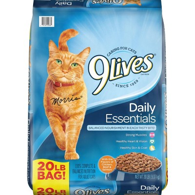 9Lives Daily Essentials Adult Salmon, Chicken and Beef Dry Cat Food - 20lbs