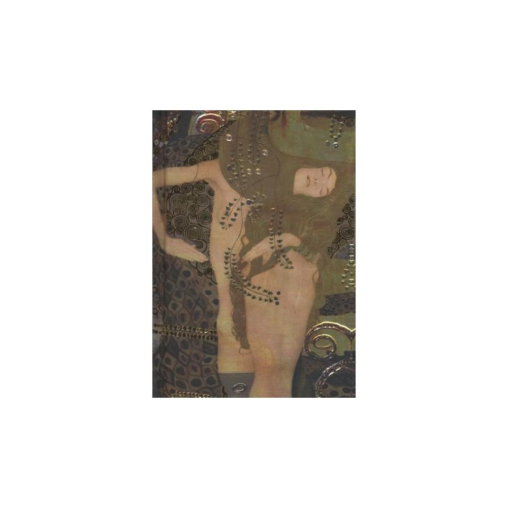 Gustav Klimt Foiled Pocket Notebook : Water Serpents - (Hardcover)