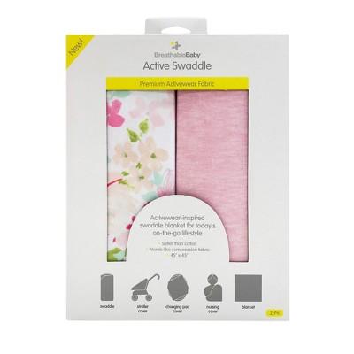BreathableBaby Swaddle Blanket 2pk - Pink
