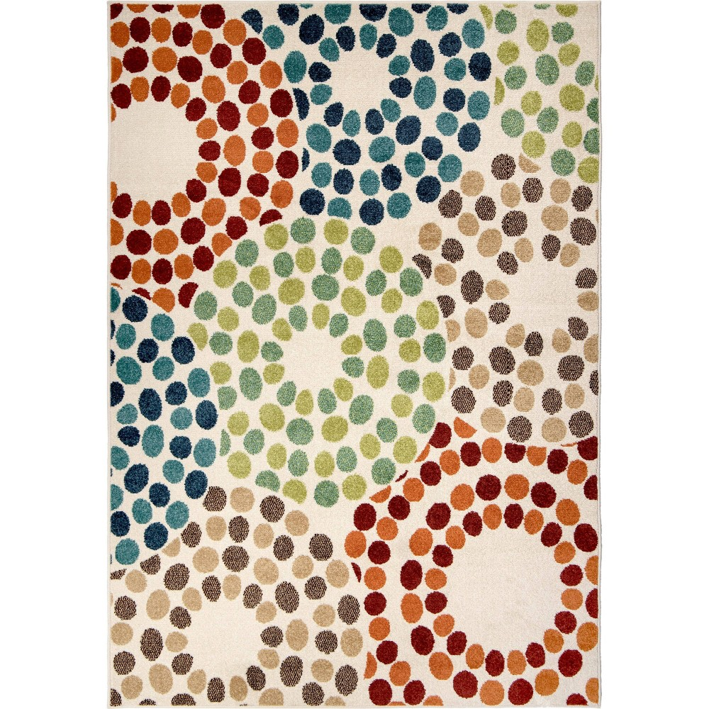 Orian Rugs Polka Circles Promise Indoor/Outdoor Area Rug, Multicolored