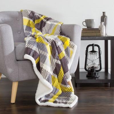 "60""x50"" Fleece Sherpa Throw Blanket - Yorkshire Home : Target"