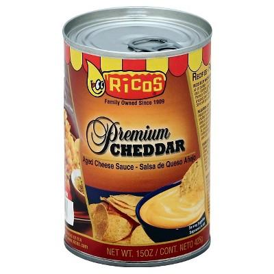 Rico's Premium Salsa de Queso Adged Cheddar Cheese Sauce 15oz