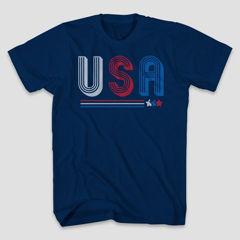 d3a464385 Men's USA Short Sleeve Graphic T-Shirt Navy : Target