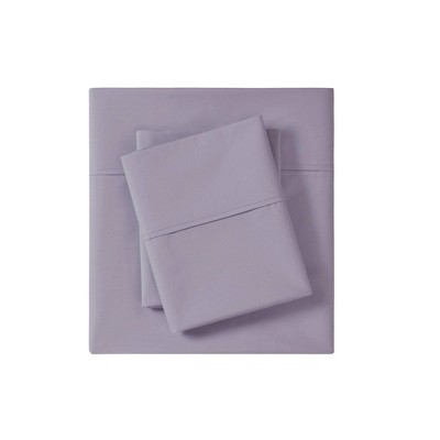 Peached 100% Cotton Percale Solid Sheet Set
