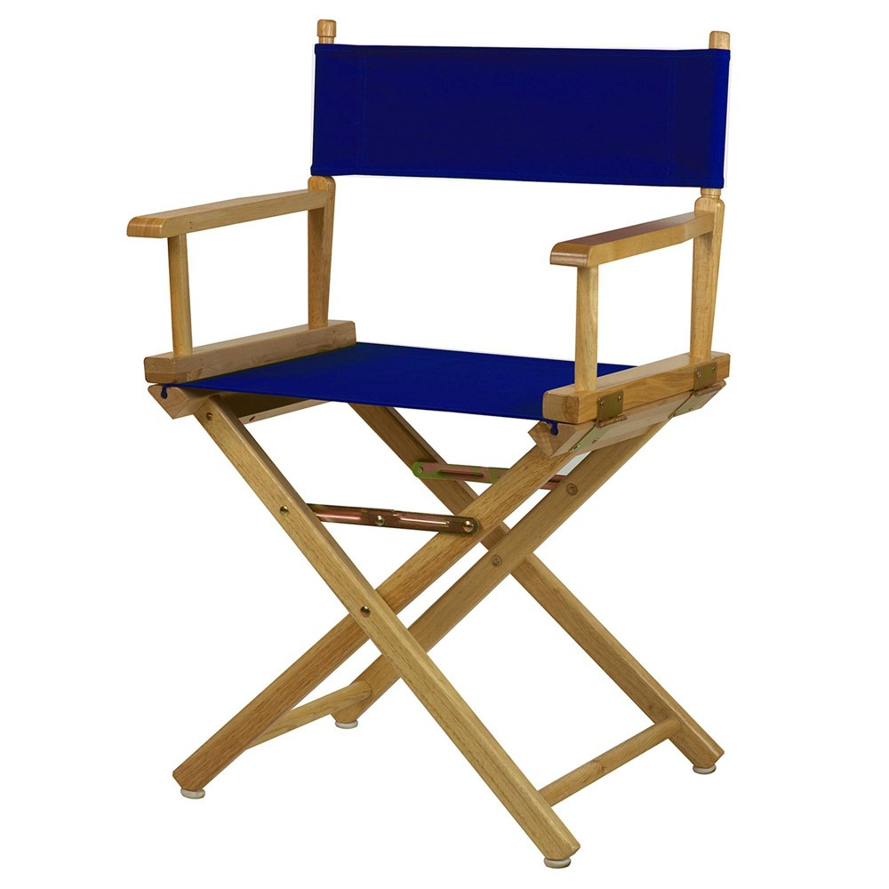 Director S Chair Canvas Royal Blue Natural Flora Home