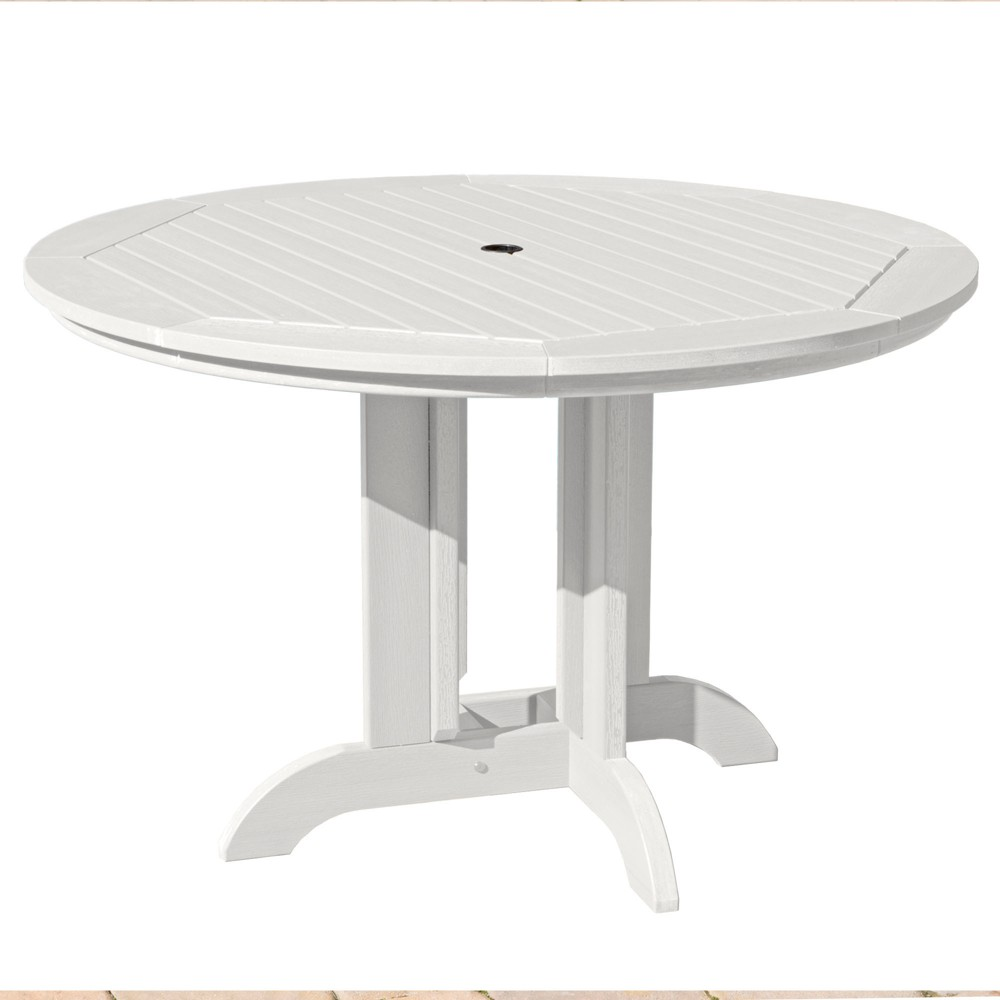Round 48 Dining Table White - Highwood