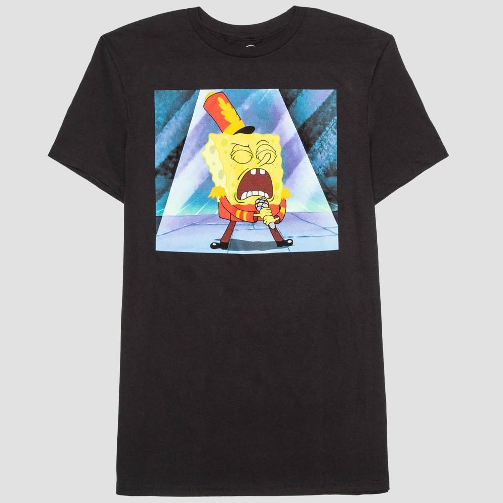 Image of Men's SpongeBob SquarePants Singing SpongeBob Short Sleeve Graphic T-Shirt - BlacK 2XL, Men's