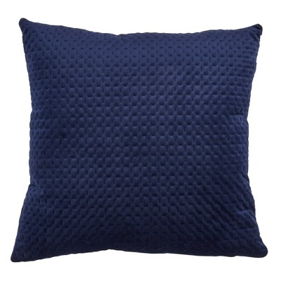 Pinsonic Velvet Poly Filled Pillow Navy Blue - Saro Lifestyle