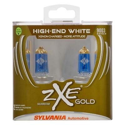 Sylvania 9003SZG.PB2 High Performance SilverStar zXe GOLD 9003 Halogen Fog Light Bulb HID Attitude and Xenon Fueled, White (2 Pack)